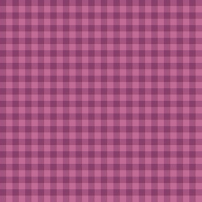red plum gingham