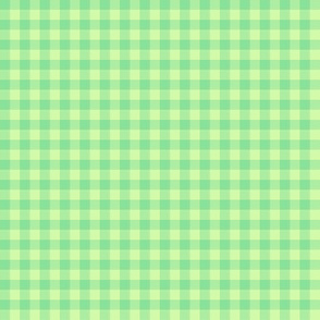 green melon gingham