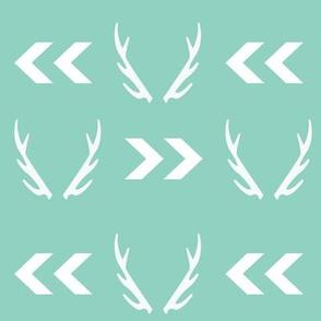 antler mint chevron arrow design for nursery