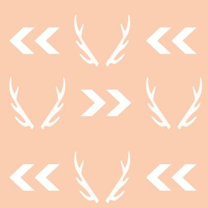 antler chevron arrow blush design