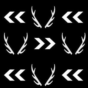 antler black white chevron arrow monochrome minimal nordic design