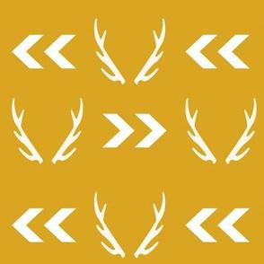 antler gold chevron yellow mustard arrow
