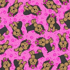 Yorkie Party (Pink)
