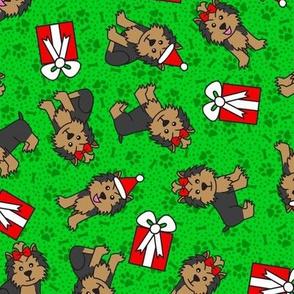 Merry Yorkies (Green)