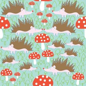 Hedgehogs and Mushrooms