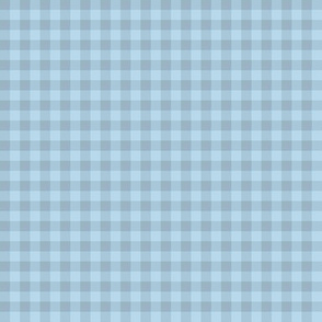 blue-grey gingham