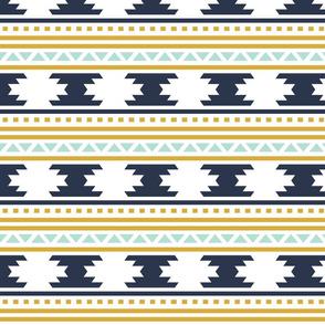 navy aztec stripe // small