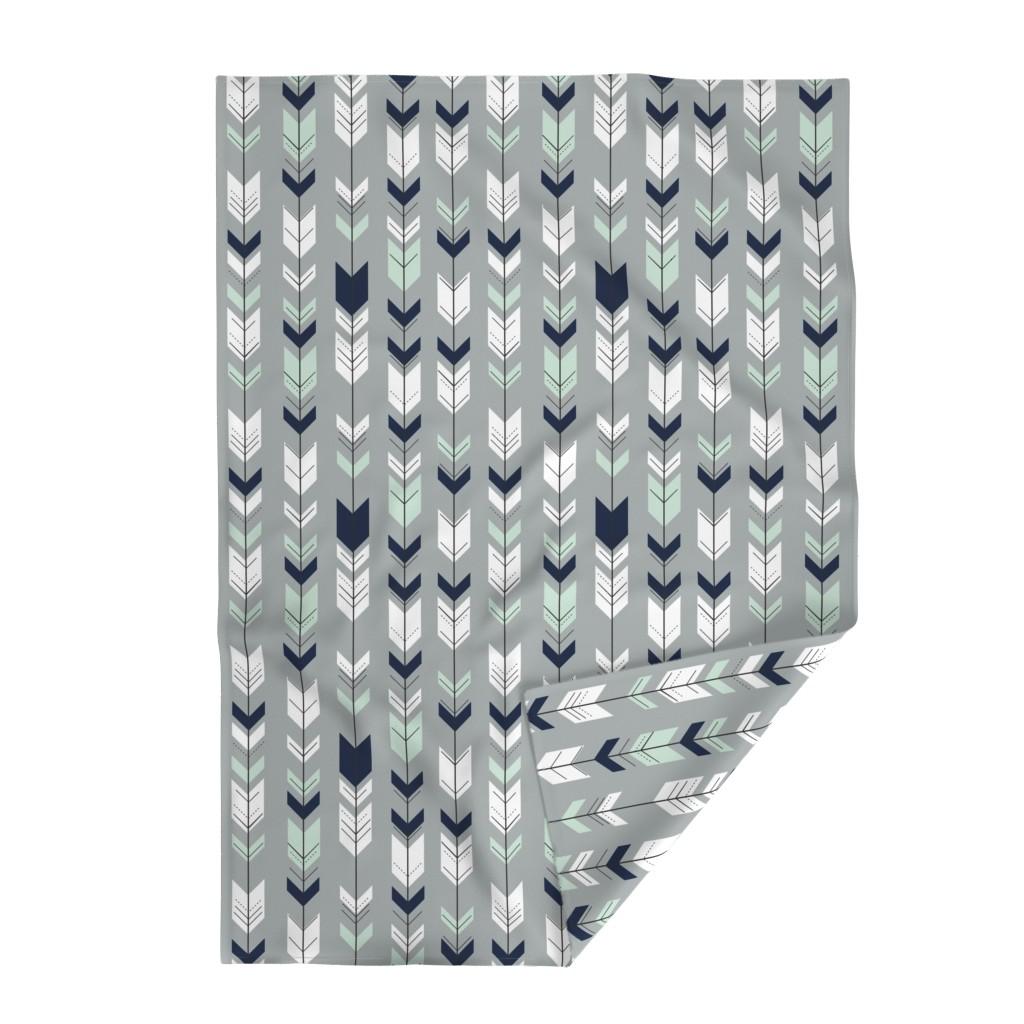 Lakenvelder Throw Blanket featuring Fletching Arrow // Northern Lights - Grey by littlearrowdesign