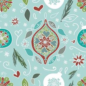 Folk Style Christmas Ornaments