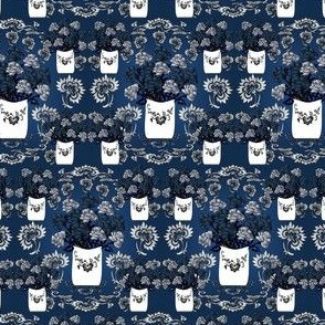 Gray Is Beautiful Victorian Roses Fabric