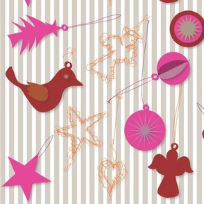 Paper and Wire Ornaments - assortment - Love