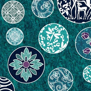 Fancy Ornaments - Virtual Dye-painting - with patterns and textures - check swatch to see textures