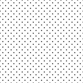 polka dot white
