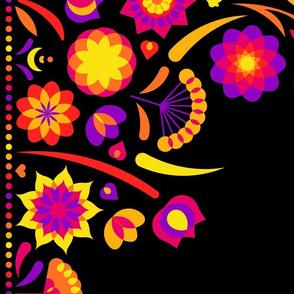 Happy flower border (black)