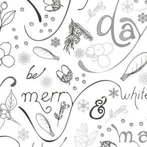 woodland christmas calligraphy
