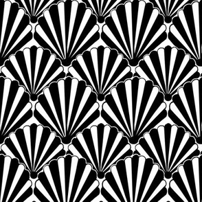Art deco Shell Black & white