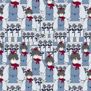 Gray Is Beautiful Mabel I'm All Woman Roses and Flowers Fabric