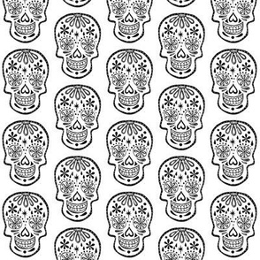 Sugar Skulls - Black on white