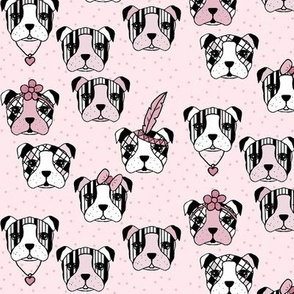 Accessorised dogs and dots pink