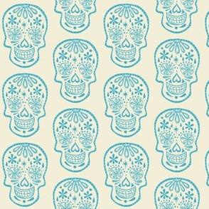 Sugar Skulls - Blue