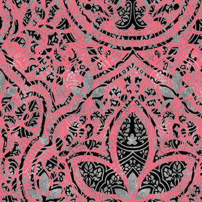 Rajkumari ~ Royal Scandal with Silvered and Black ~ Batik