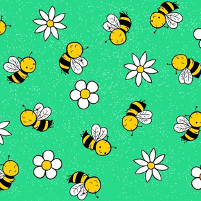busy bees - green