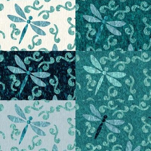 Checked Dragonflies ditsy-dragonflies-test-multiswatch