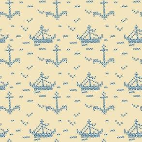 Cross Stitch Boats