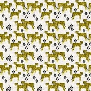 Safari Cheetah - Goldenrod (Tiny Version) by Andrea Lauren