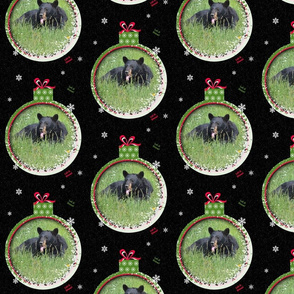 Black Bear Ornament 2