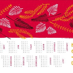 twiggy calendar towel