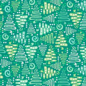 Christmas trees green