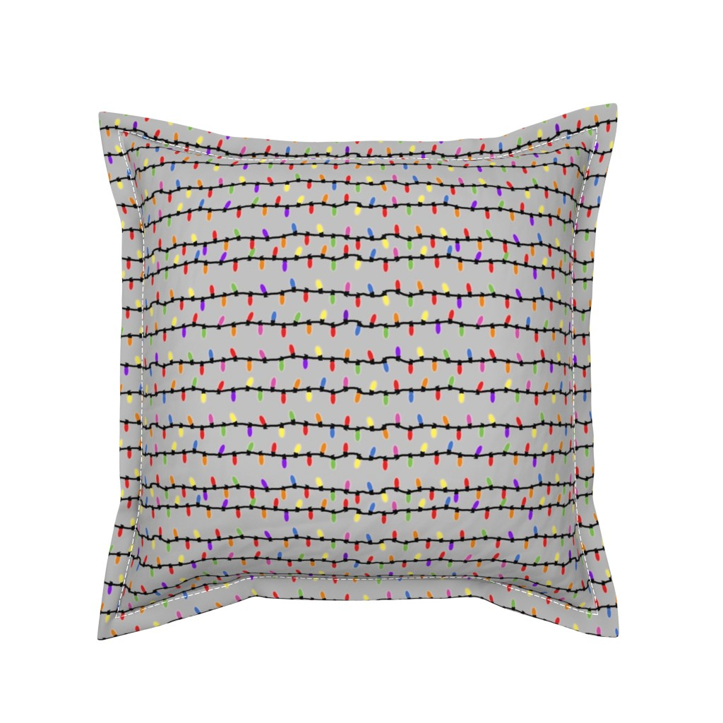 Serama Throw Pillow featuring party lights! by gasponce