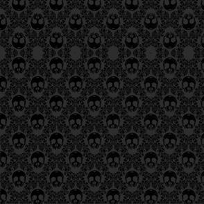 black skulls on black and grey