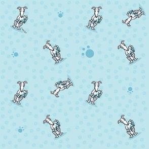 TINY Greyhound Best Buddies Teal