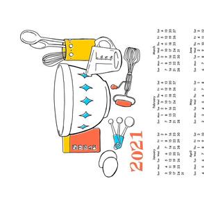 2021 Baking Tea Towel Calendar
