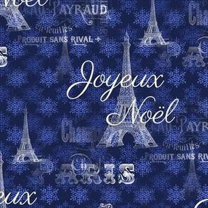 Paris Noël Blue Christmas Snowflakes