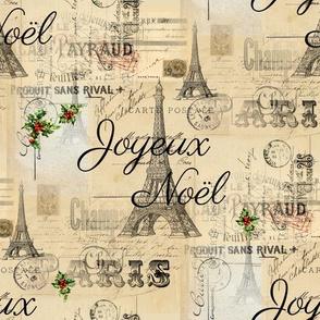 Paris Noel French Postcard Christmas