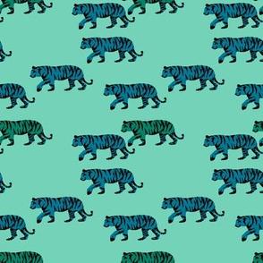 March of the Tigers (aqua)