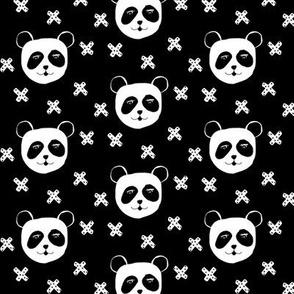 panda and X's black mini