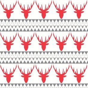 deers red grey