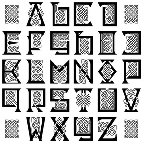 03678120 © celtic knotwork capitals