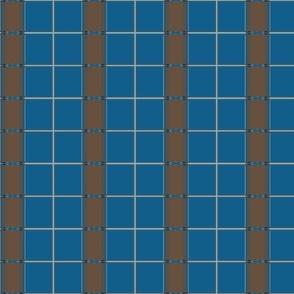 Blue and Brown Urban Pattern Stripe