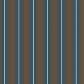 Blue Stripes on Brown
