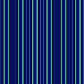 Navy Green and Blue Stripe