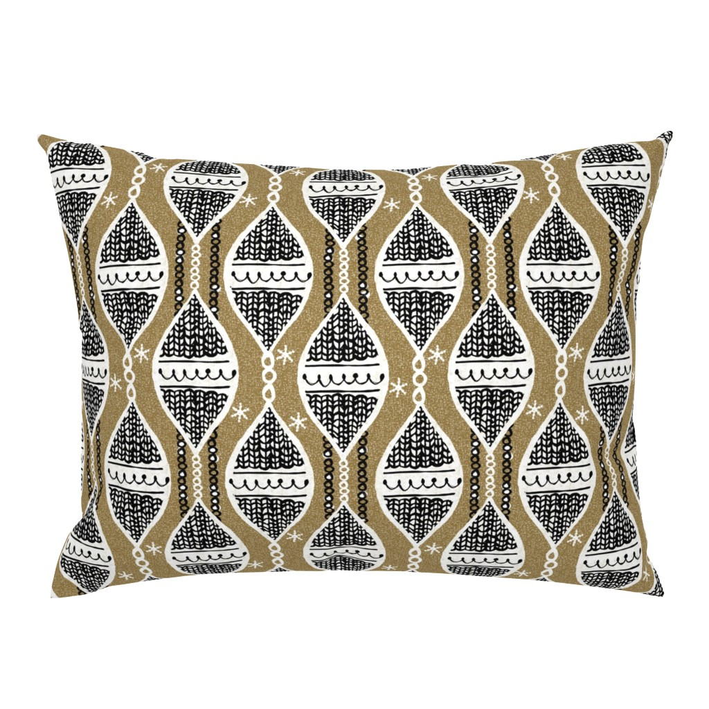 Campine Pillow Sham featuring Holiday ornaments - Christmas by ottomanbrim