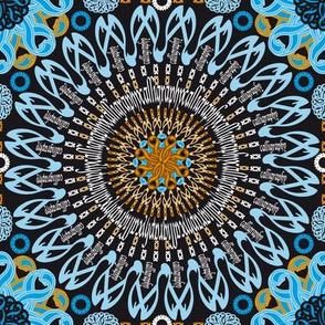 Rosace Calligraphy (Orange&Blue)