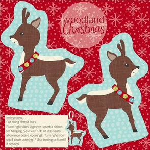 Woodland Christmas Deer
