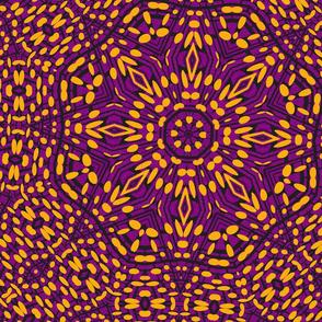 Orange Purple Black Kaleidoscope Pattern