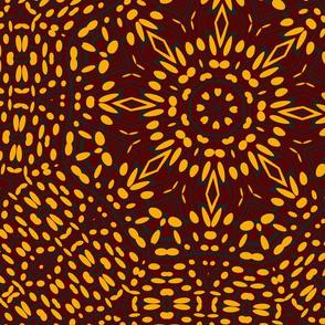 orange_black_brown_kaleidescope_pattern